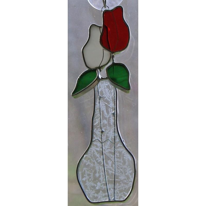 Rosebud Vase Suncatcher