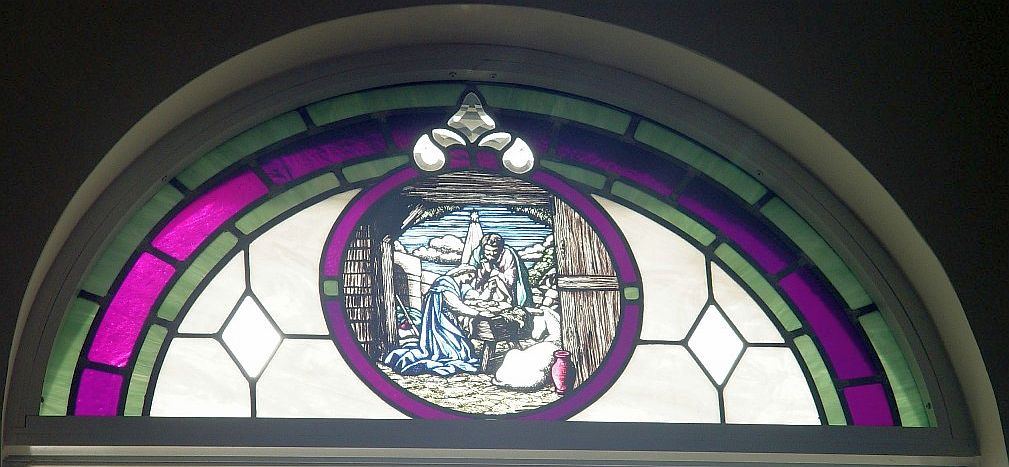 New Construction Nativity Window Glass By Knight